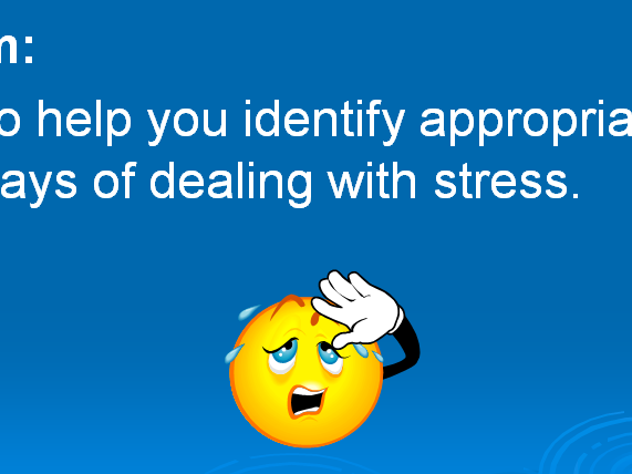 Managing Stress - Assembly or Introductory Lesson