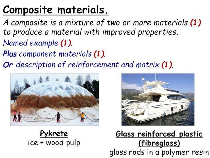 GCSE Chemistry Choosing Materials & Composite Materials Full Lesson (Edexcel 9-1 SC26a SC26b) TRIPLE