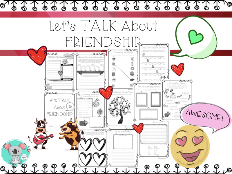 Friendship Worksheets and Activities: Let's Talk About Friendship Booklet
