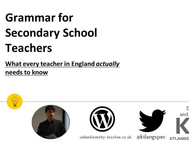 Online Course: Grammar for Secondary School Teachers