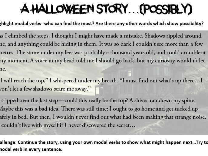 Modal Verbs Worksheets Halloween Themed Teaching Resources