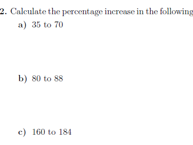 Percentages worksheet no 2 (with solution)