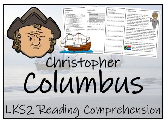 LKS2 History - Christopher Columbus Reading Comprehension Activity