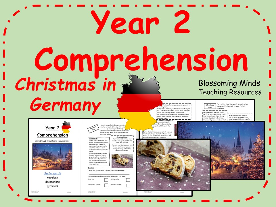 Christmas in Germany non-fiction comprehension - Year 2