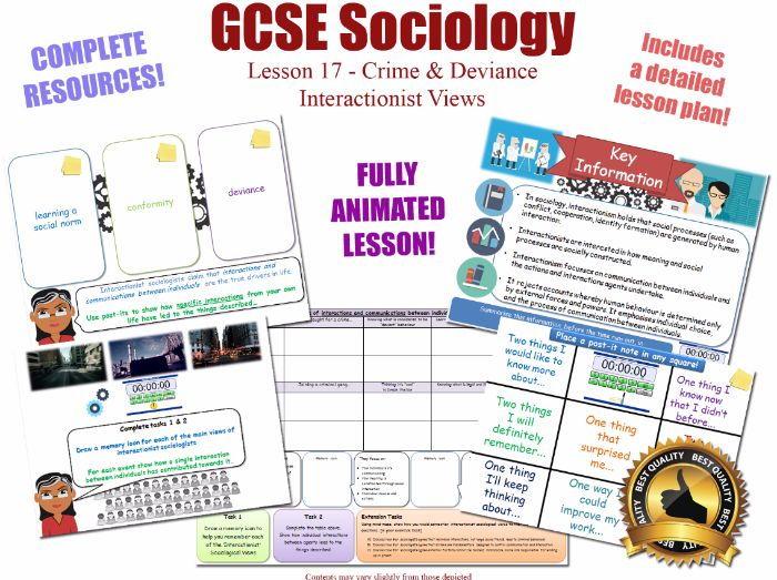 Interactionist Views - The Sociology of Crime & Deviance L17/20 [ AQA GCSE Sociology - 8192] KS4 NEW