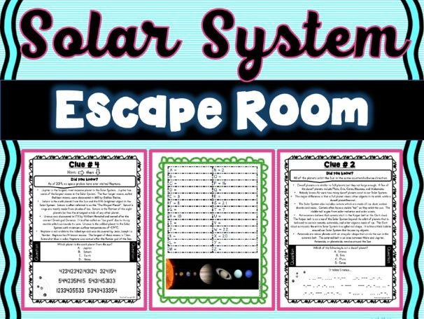 Solar System ESCAPE ROOM! - Earth Science - NO PREP, PRINT & GO!