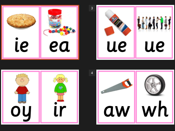 Large Phase 5 Grapheme and Pictures Flash Cards - Letters and Sounds, Phonics, Literacy, KS1