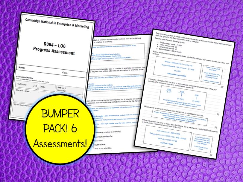 R064 Progress Assessments (Tests) All 6 LOs!