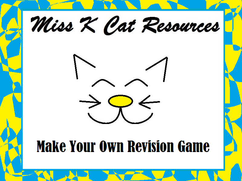 Make Your Own Revision Board Game Resource Pack