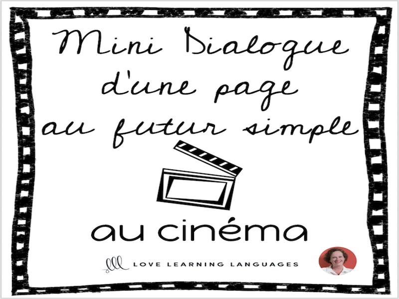 French skit about cinema - Mini-dialogue au futur simple - Le cinéma