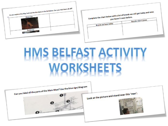HMS Belfast School Trip Activity Worksheets KS2 and Lower KS3