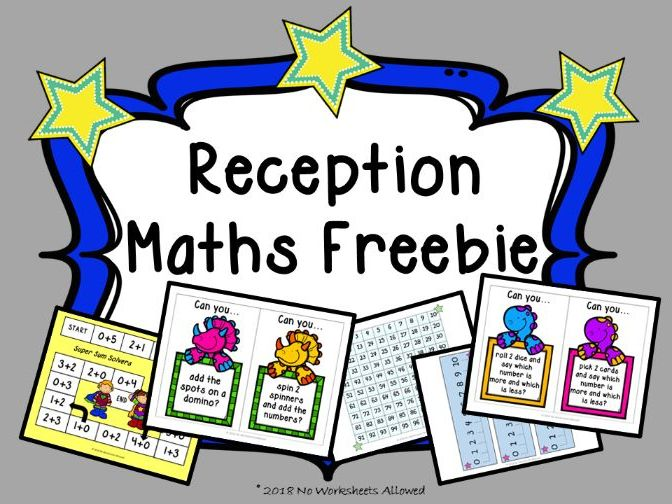 Reception Maths Freebie: Number Lines, 100 Square, Challenge Cards and Game
