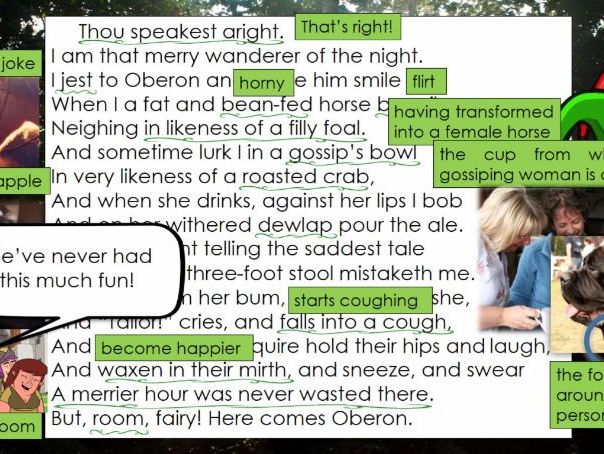 "Line by Line: A Midsummer Night's Dream, Puck's ""Thou speakest aright"" (2.1)"