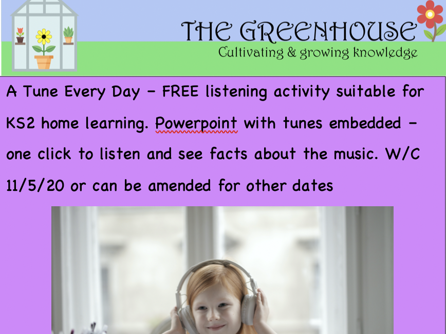 A Tune Every Day KS2 music ppt w/c 11/5/20