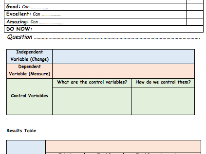 Experiment Planning Template