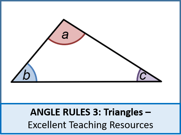 Geometry: Angle Rules 3 - Angles in Triangles (+ worksheet)