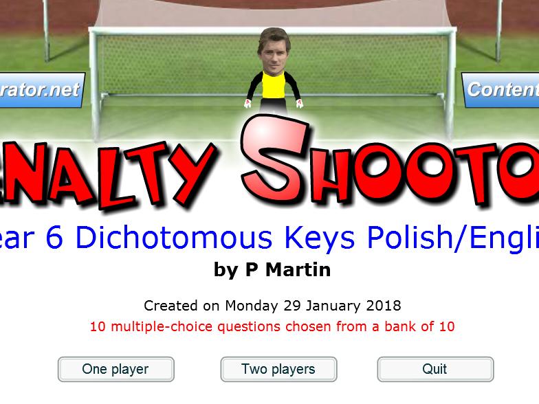 Year 6 Dichotomous Keys Game Polish/English