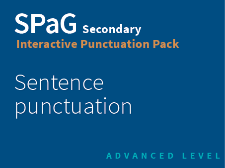 SPaG Secondary Interactive Punctuation Pack - Sentence puncutation (Advanced Level)