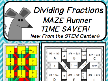 Dividing Fractions Maze Runner Game