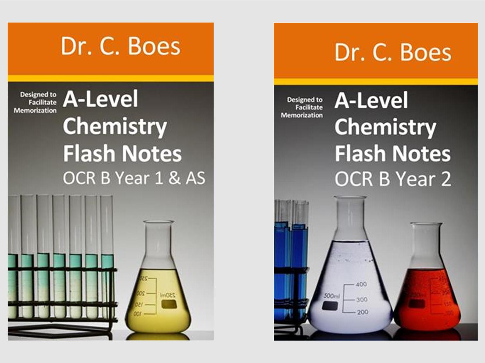 OCR B Year 1 & 2 A-Level Chemistry Condensed Revision Notes (Flashcards)
