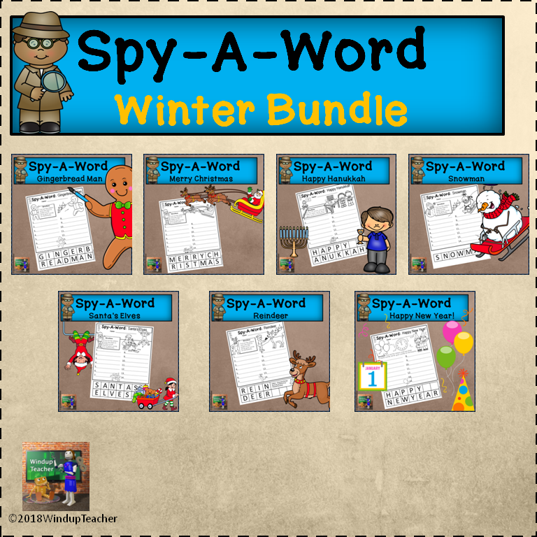 Spy-A-Word: WINTER BUNDLE