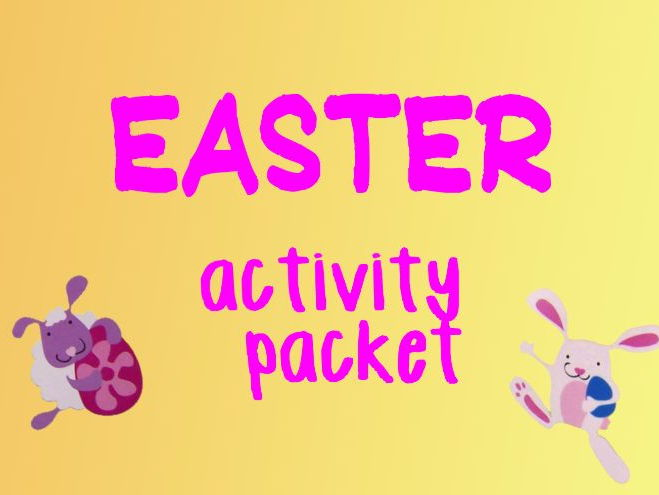 Easter activity pack - wordsearch, crafts, card template, egg,