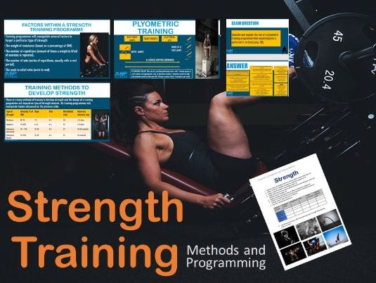 Strength - Methods and Programming - A Level PE -PP and worksheet