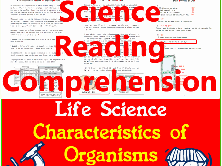 Life Science Reading Passages | Characteristics of Organisms | Grade 3-4