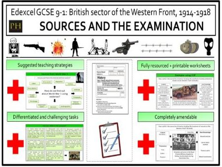British sector of the Western Front - Sources and the examination