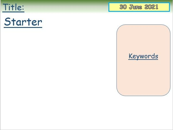 Updated lesson planning template