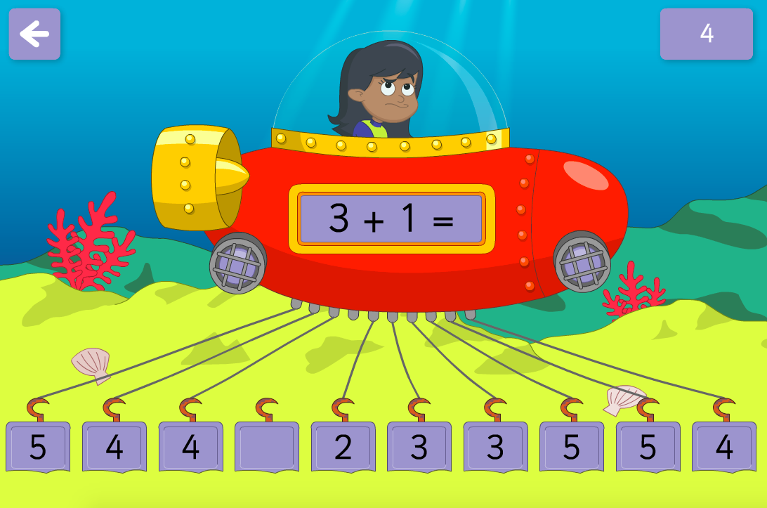 Addition to 100 - Release the Submarine Interactive Game - KS1 Number