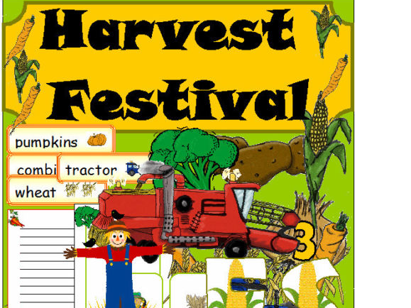 Harvest Festival Teaching Resources EYFS KS1 Writing  - Games - Flashcards