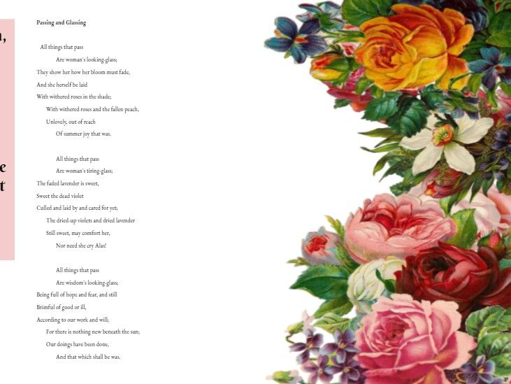 Passing and Glassing by Christina Rossetti lesson