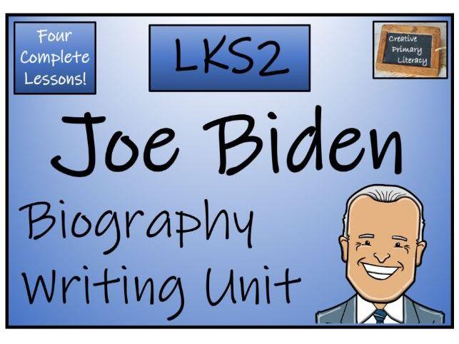 LKS2 Joe Biden Biography Writing Activity