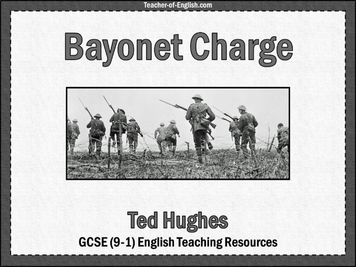 Bayonet Charge (69 slide PowerPoint and 4 worksheets)