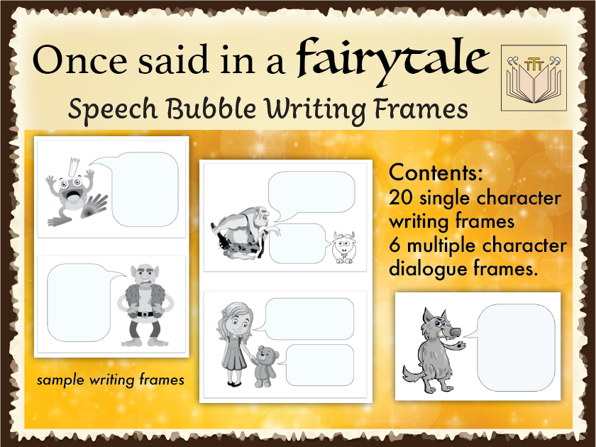 Once said in a Fairytale writing frames