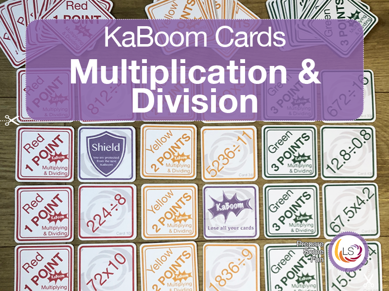 Multiplication & Division | KaBoom Card Game