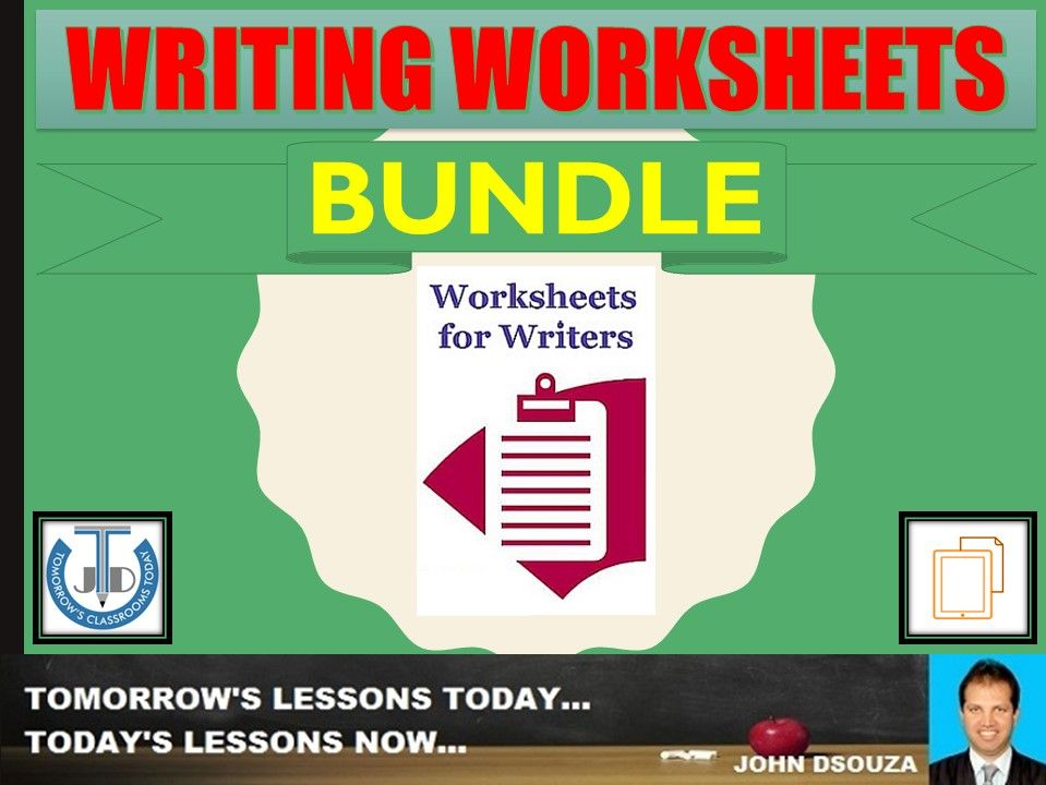 WRITING WORKSHEETS: BUNDLE