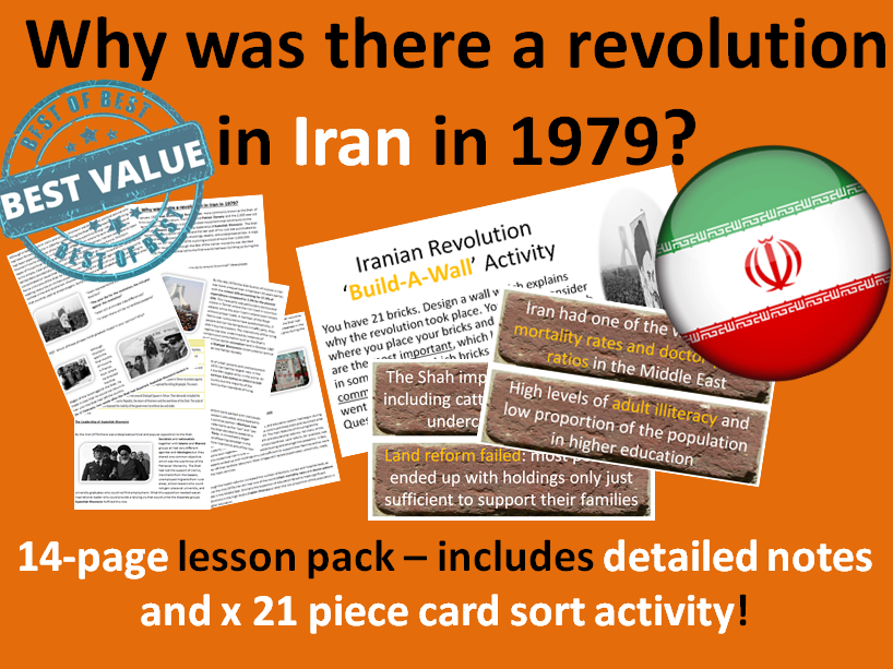 Why was there a revolution in Iran in 1979 - 14-page lesson pack