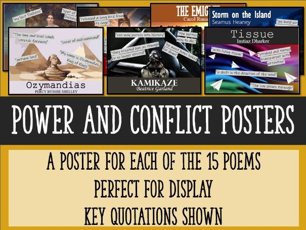 Power and Conflict Poetry Posters