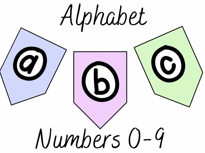 Pastel Alphabet for Display Banners