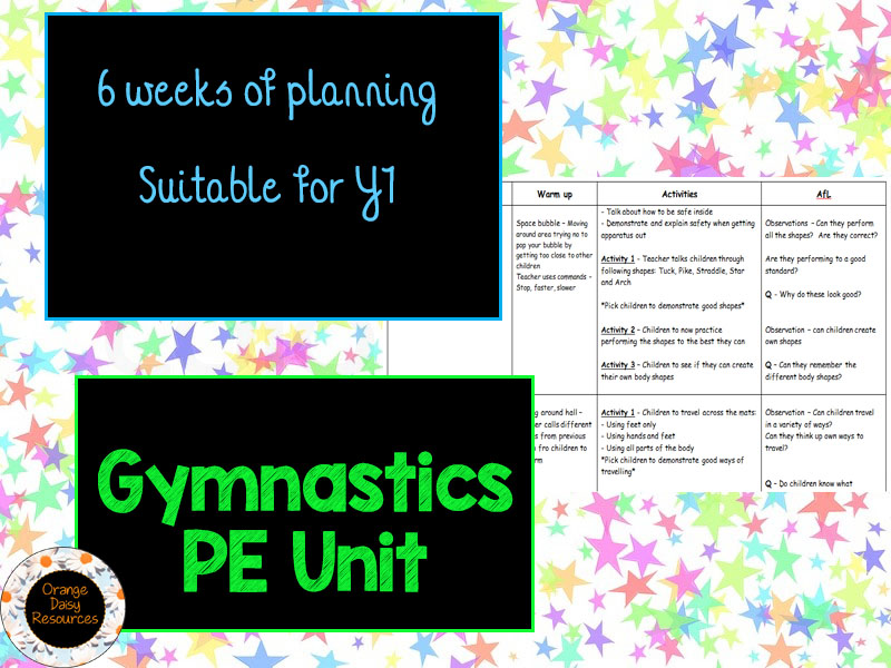 6 weeks of Gymnastic Planning Y1