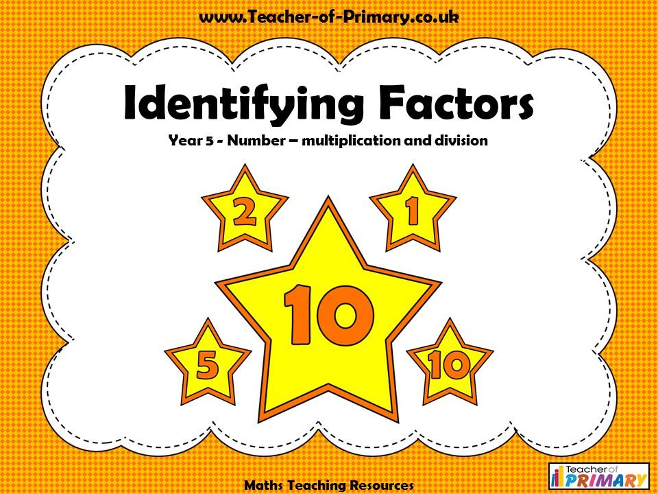 Identifying Factors - Year 5