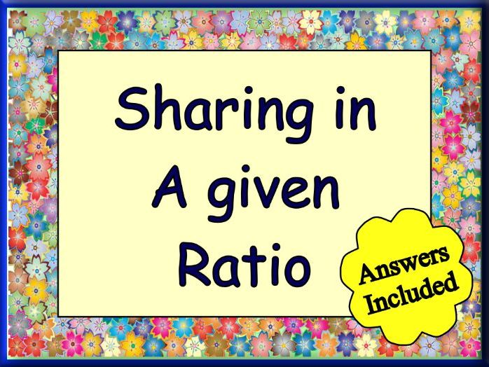 Sharing in a ratio