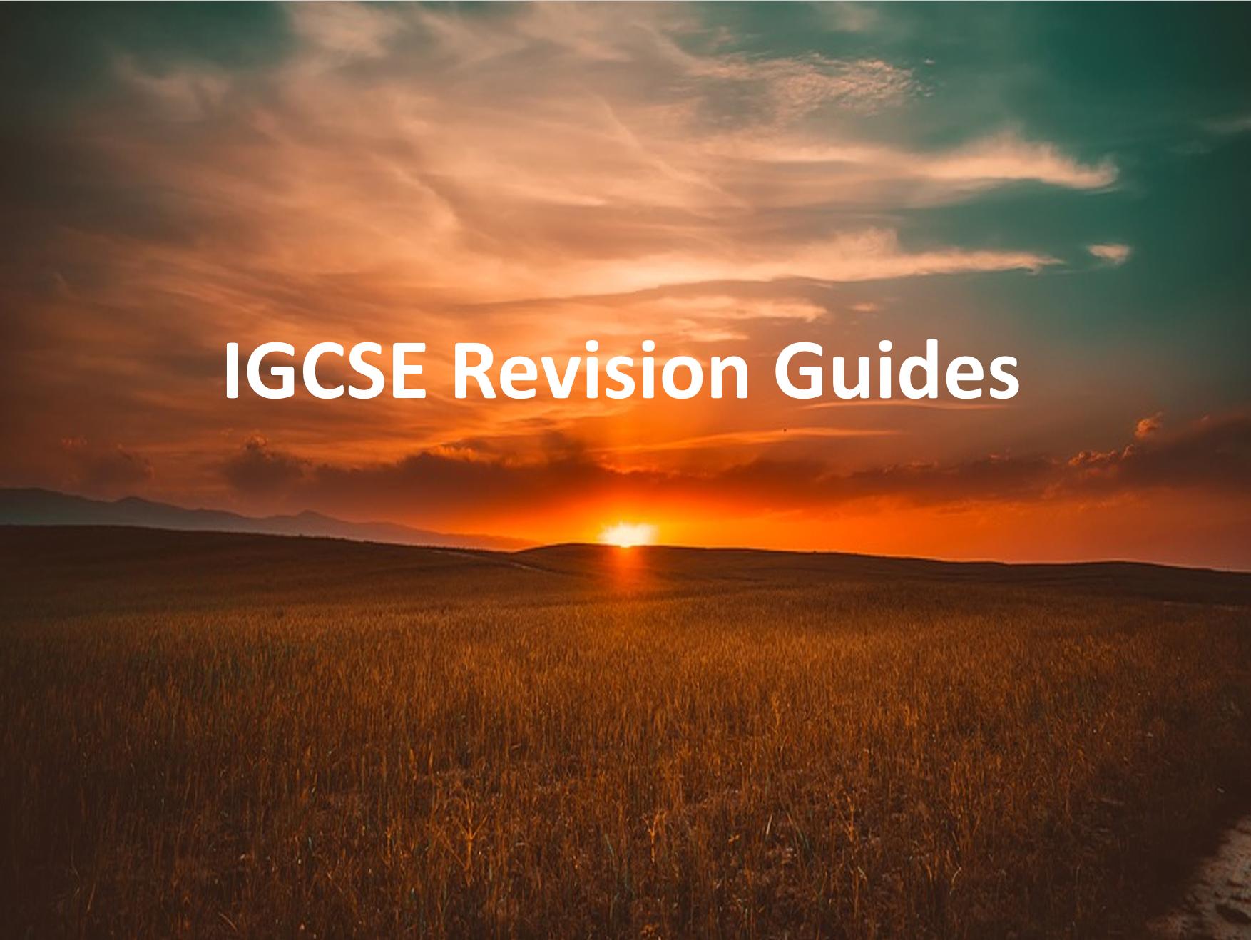 IGCSE Revision Guides