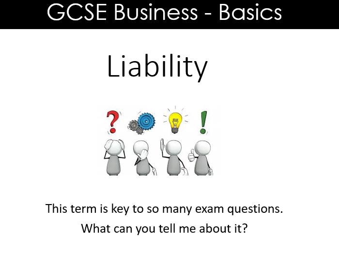 GCSE Business - Revision (Liability)