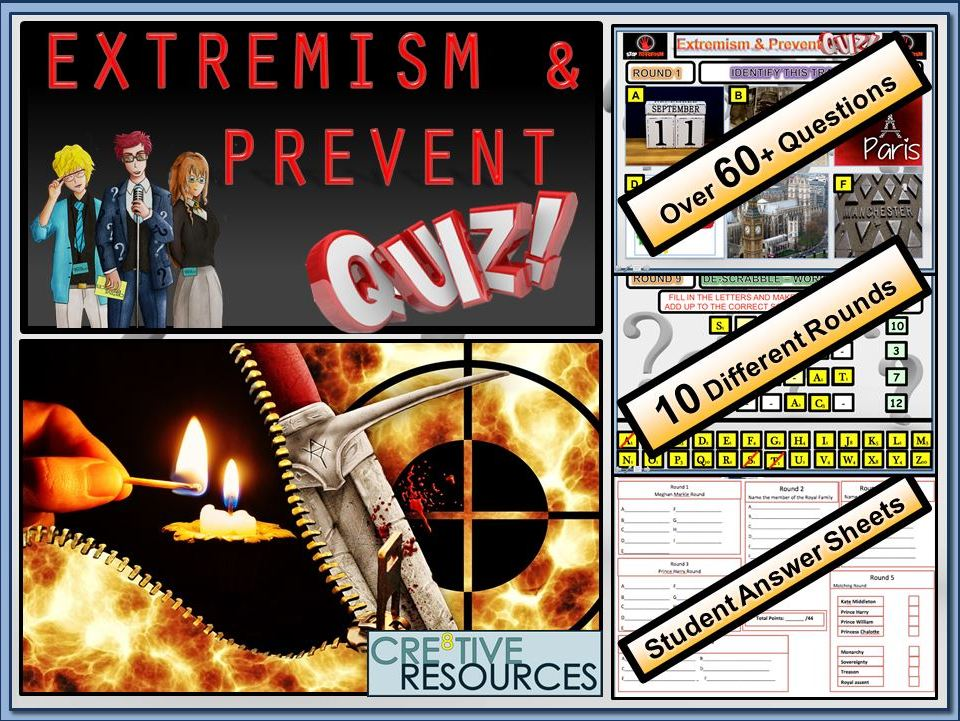 Extremism and Prevent - Quiz Lesson