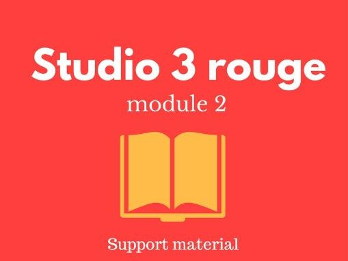 Studio 3 rouge module 2 worksheets