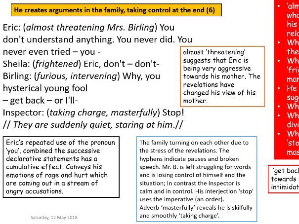 AQA English Literature Paper 2: 'An Inspector Calls' - The Inspector