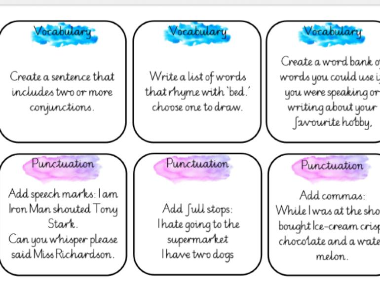 English - early finisher tasks